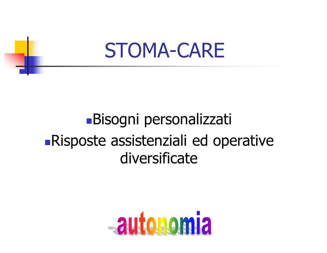 STOMA-CARE Bisogni personalizzati Risposte assistenziali ed operative diversificate