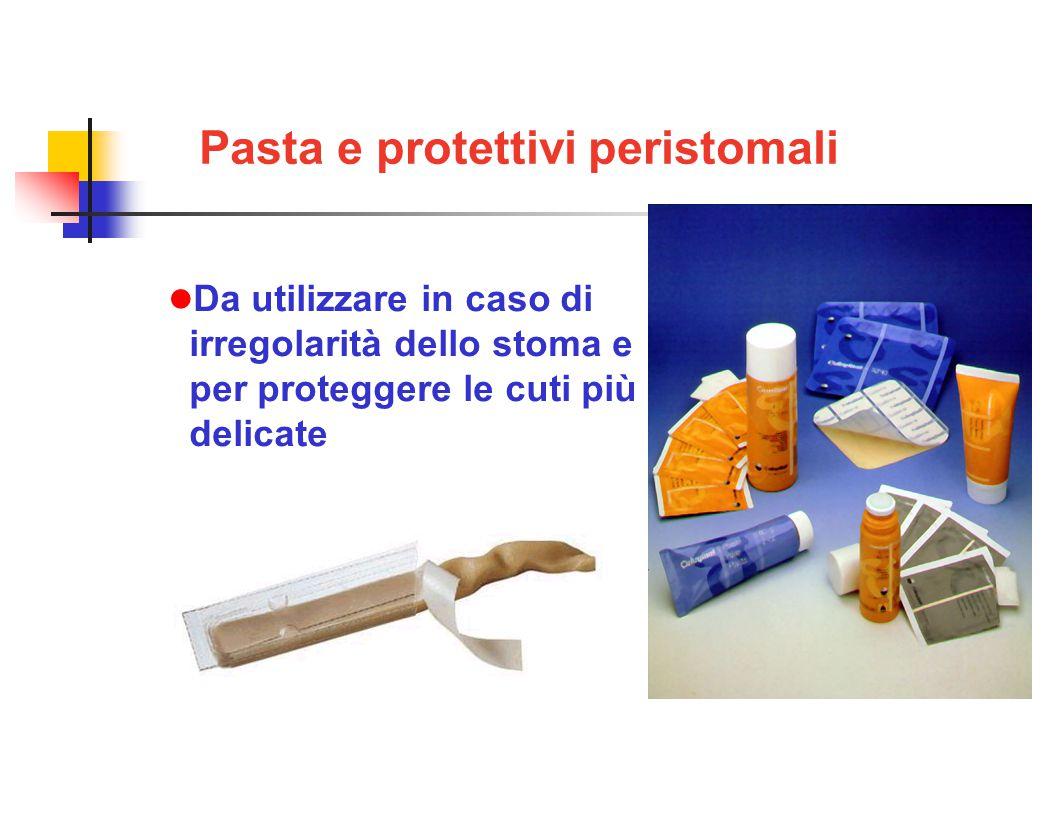 Pasta e protettivi peristomali Da utilizzare in caso di irregolarità dello stoma e per proteggere le cuti più delicate