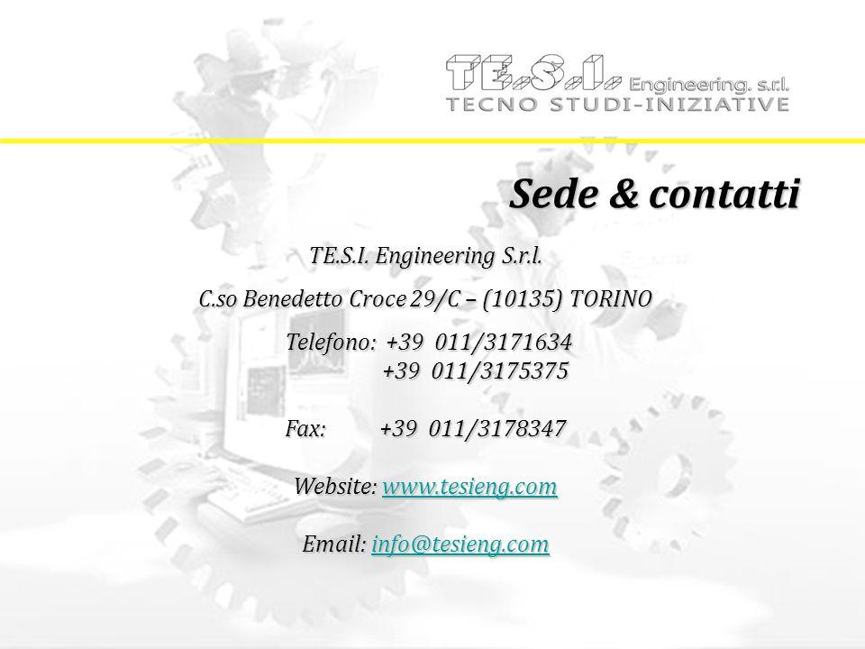 Sede & contatti TE.S.I. Engineering S.r.l.
