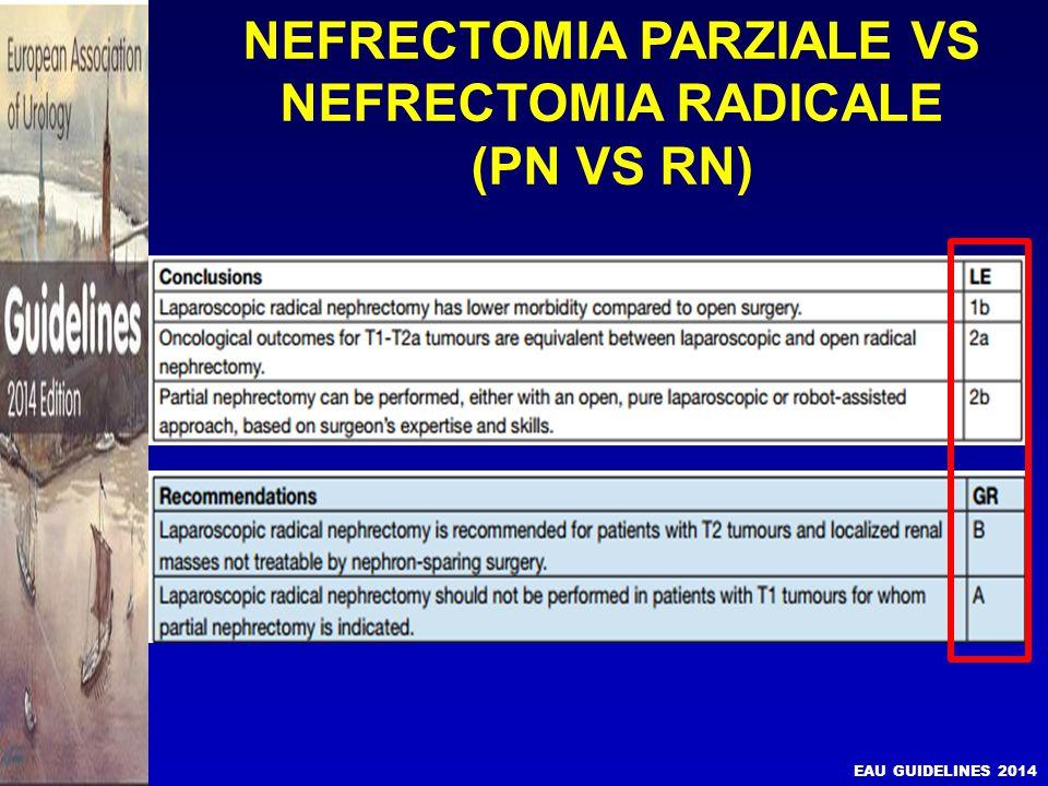 NEFRECTOMIA PARZIALE VS NEFRECTOMIA RADICALE (PN VS RN) PN vs.