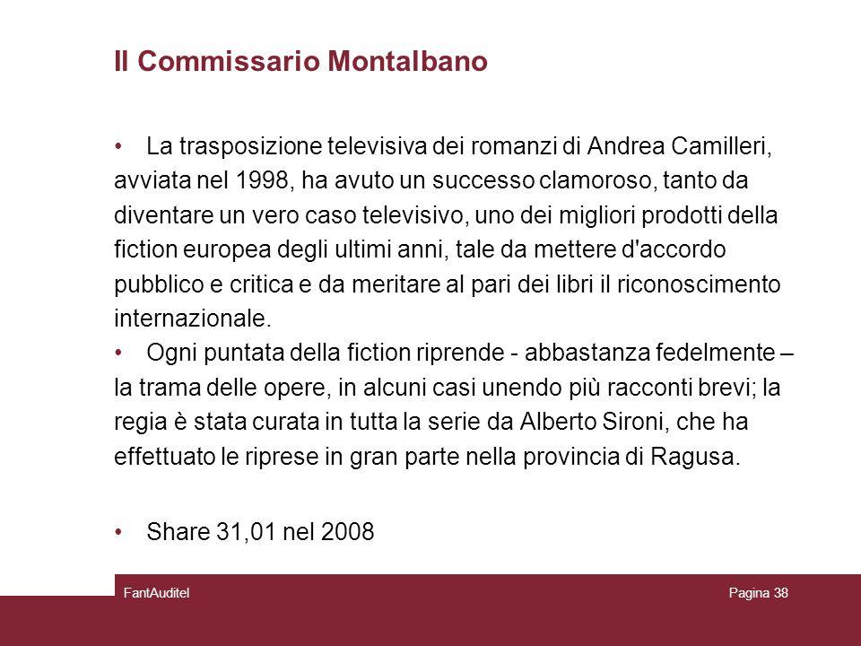 Il Commissario Montalbano La trasposizione televisiva dei romanzi di Andrea Camilleri, avviata nel 1998, ha avuto un successo clamoroso, tanto da diventare un vero caso televisivo, uno dei migliori prodotti della fiction europea degli ultimi anni, tale da mettere d accordo pubblico e critica e da meritare al pari dei libri il riconoscimento internazionale.