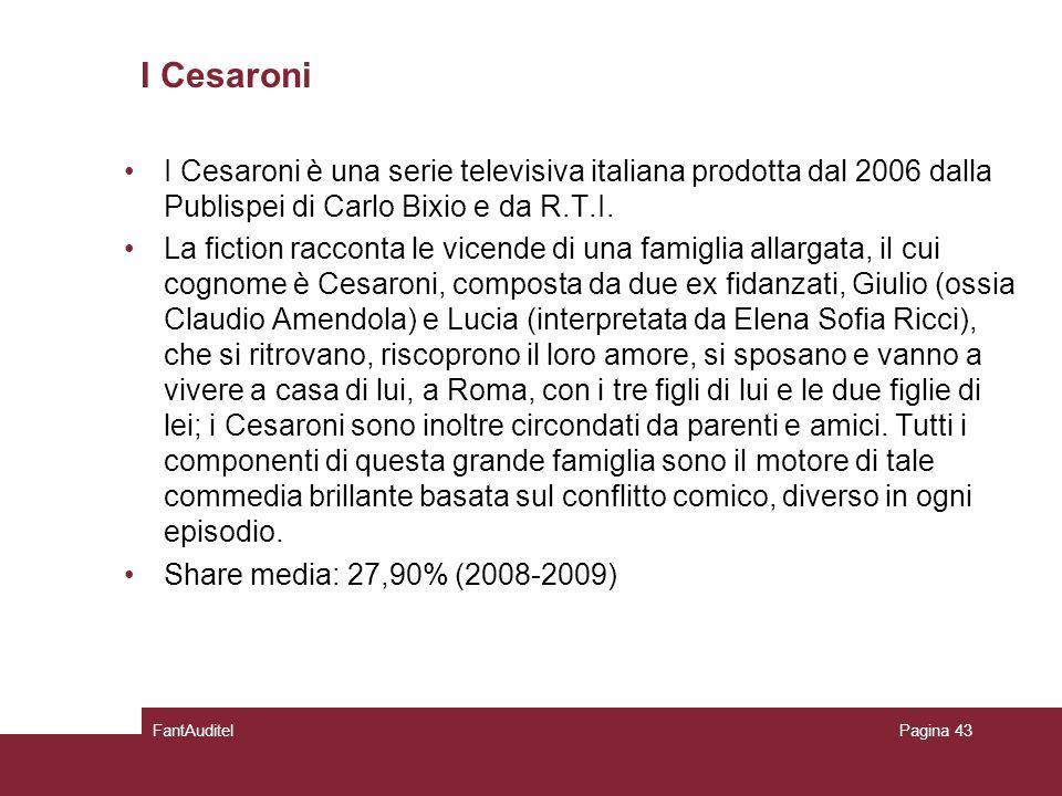 I Cesaroni I Cesaroni è una serie televisiva italiana prodotta dal 2006 dalla Publispei di Carlo Bixio e da R.T.I.