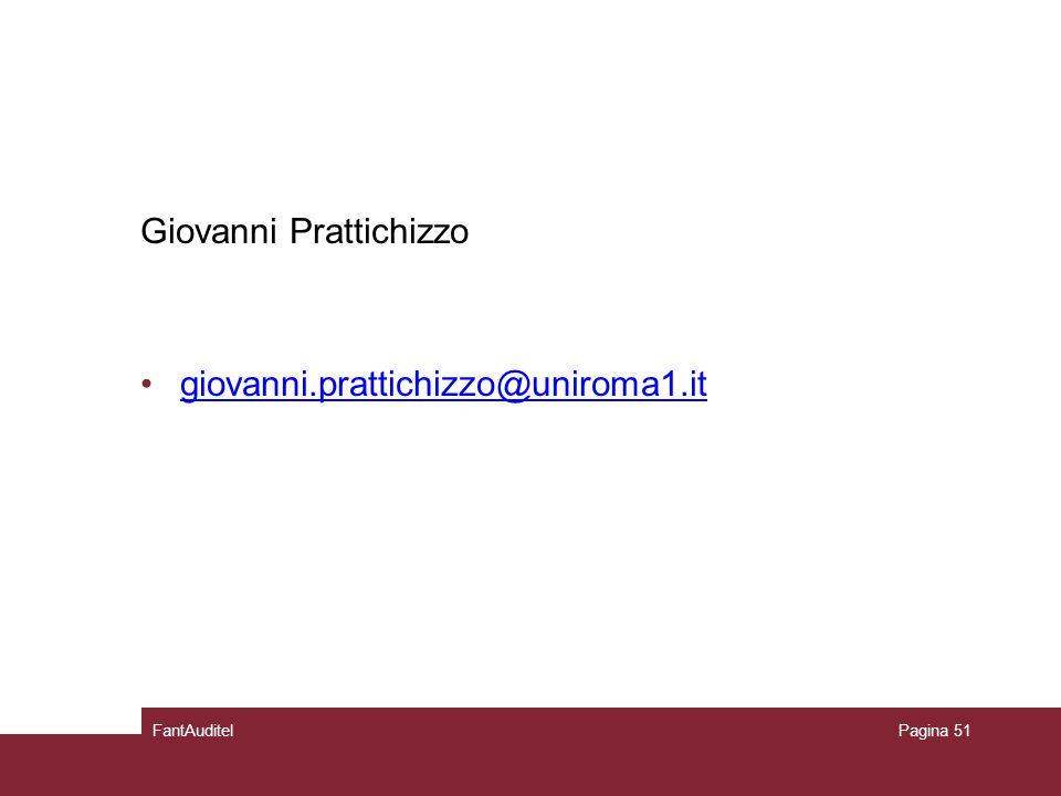 Giovanni Prattichizzo giovanni.prattichizzo@uniroma1.it FantAuditelPagina 51