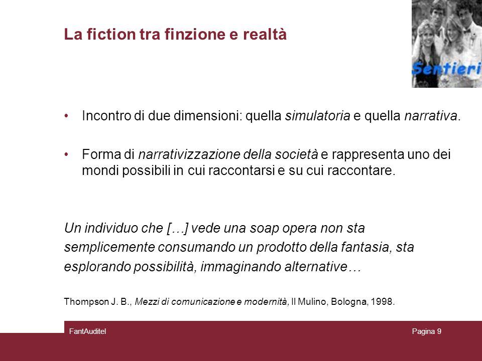 La fiction tra finzione e realtà Incontro di due dimensioni: quella simulatoria e quella narrativa.