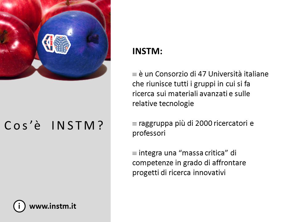 INSTM nel FP7: Security i www.instm.it 1.