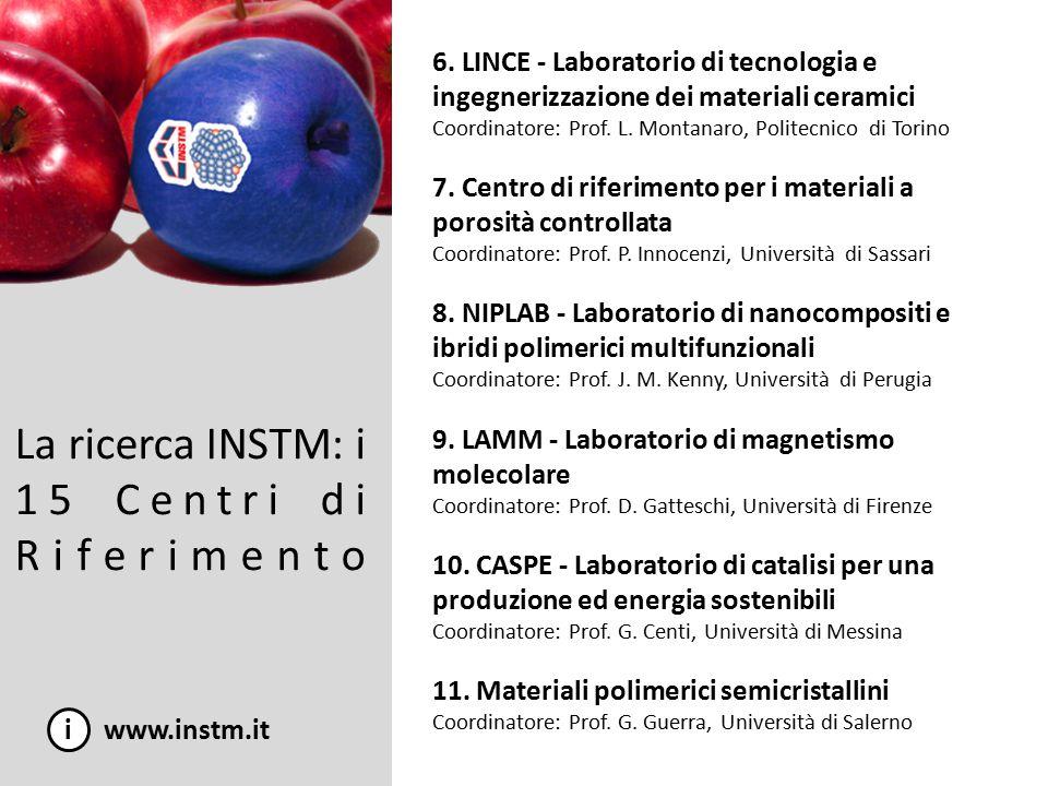 La ricerca INSTM: i 15 Centri di Riferimento i www.instm.it 12.