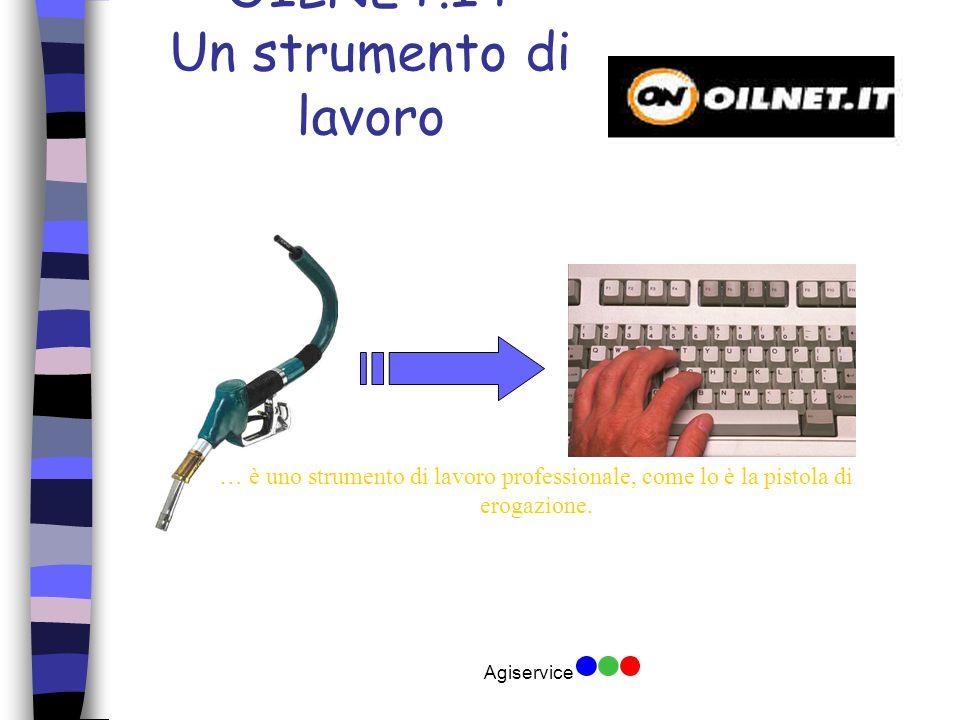 Agiservice OILNET.IT Un strumento di lavoro … è uno strumento di lavoro professionale, come lo è la pistola di erogazione.