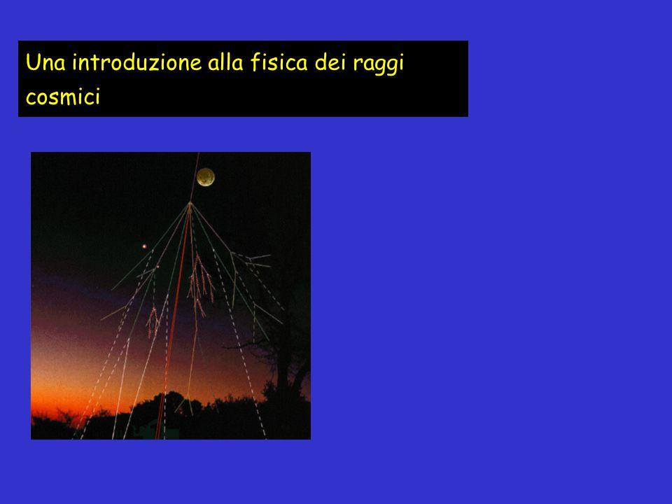 I raggi cosmici primari sono delle particelle cariche (soprattutto protoni) di alta ed altissima energia.