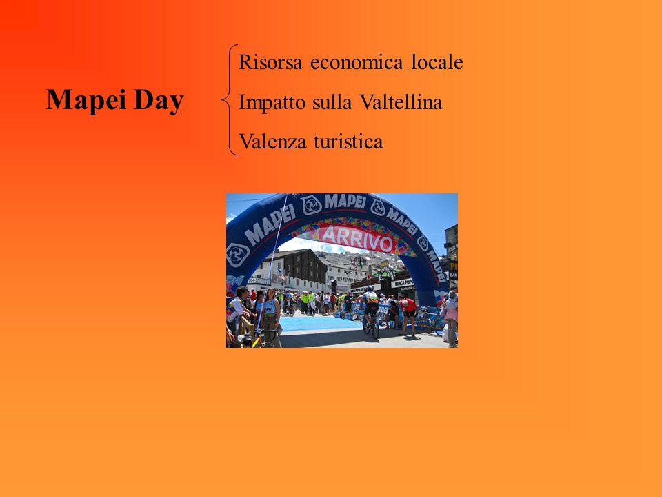Mapei Day Risorsa economica locale Impatto sulla Valtellina Valenza turistica