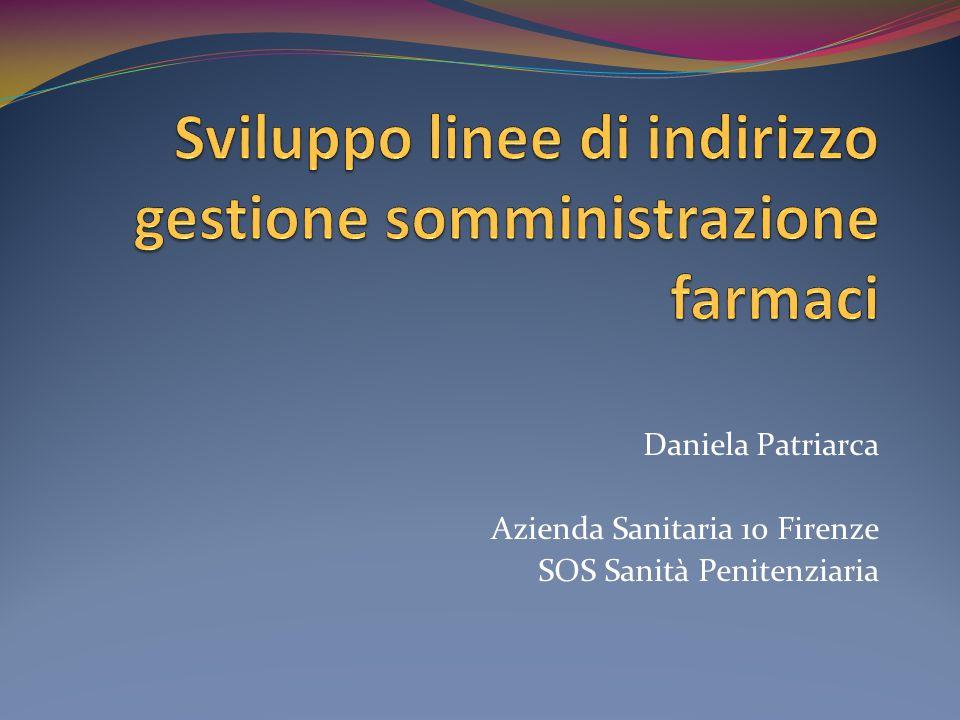 Daniela Patriarca Azienda Sanitaria 10 Firenze SOS Sanità Penitenziaria