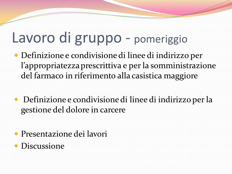 Protocollo A.S.L NO DEA Borgomanero (Novara)