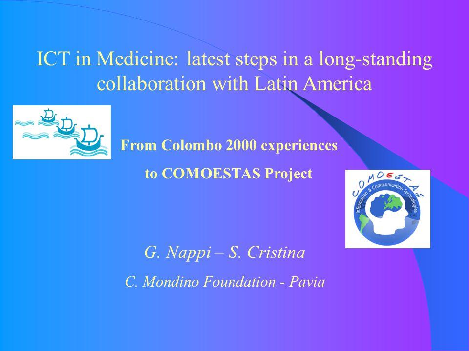 Progetto COLOMBO 2000 Italia - Argentina