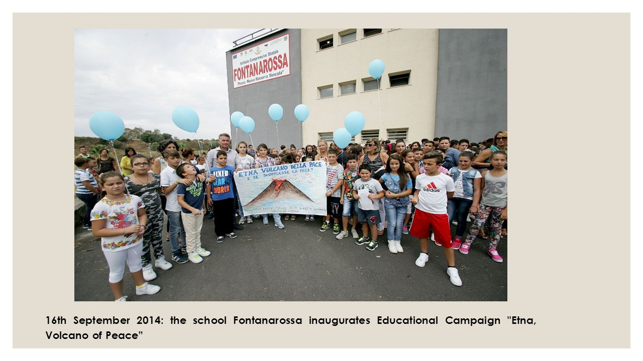 16th September 2014: the school Fontanarossa inaugurates Educational Campaign