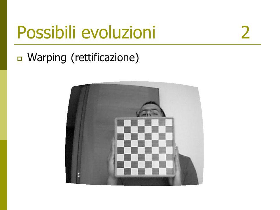 Possibili evoluzioni2  Warping (rettificazione)