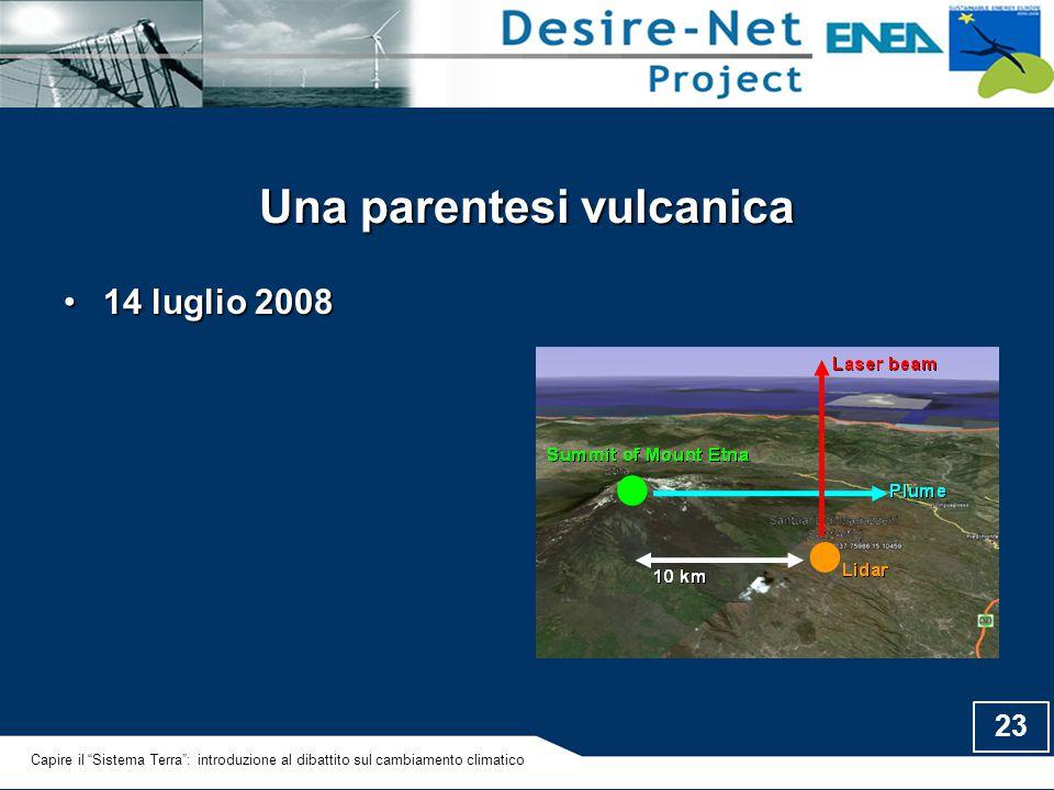 """23 Una parentesi vulcanica 14 luglio 200814 luglio 2008 Capire il """"Sistema Terra"""": introduzione al dibattito sul cambiamento climatico"""