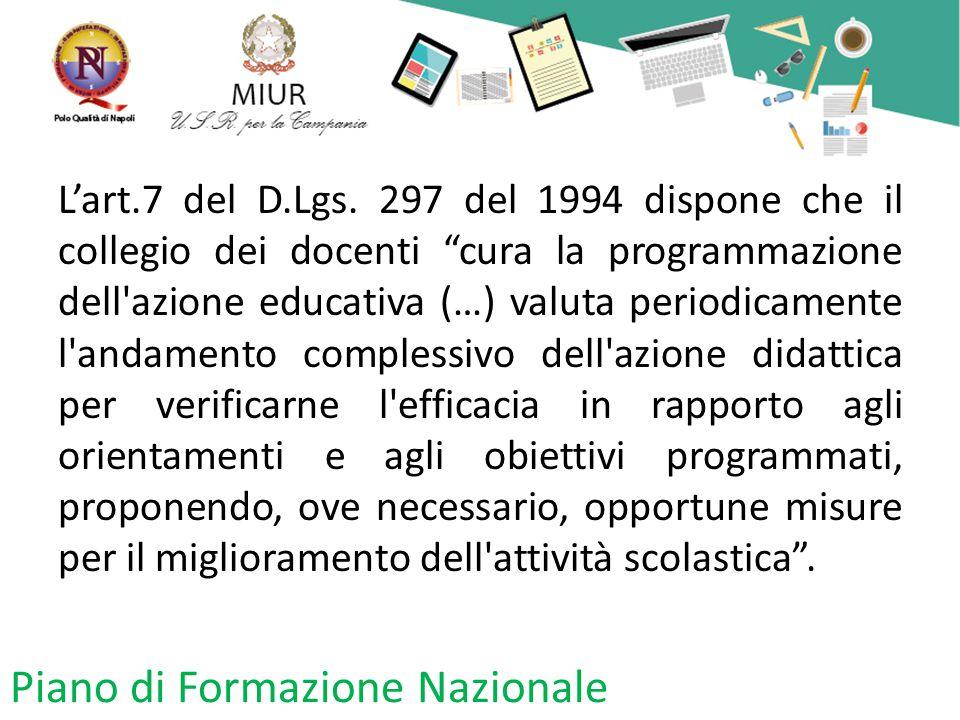 Piano di Formazione Nazionale L'art.7 del D.Lgs.