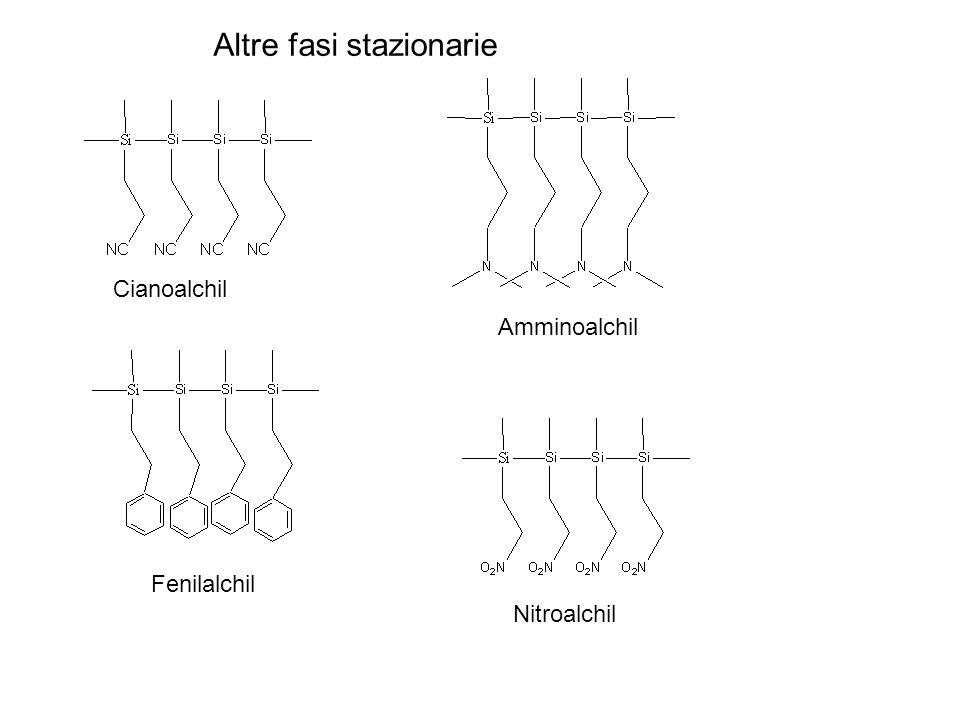Cianoalchil Amminoalchil Fenilalchil Nitroalchil Altre fasi stazionarie