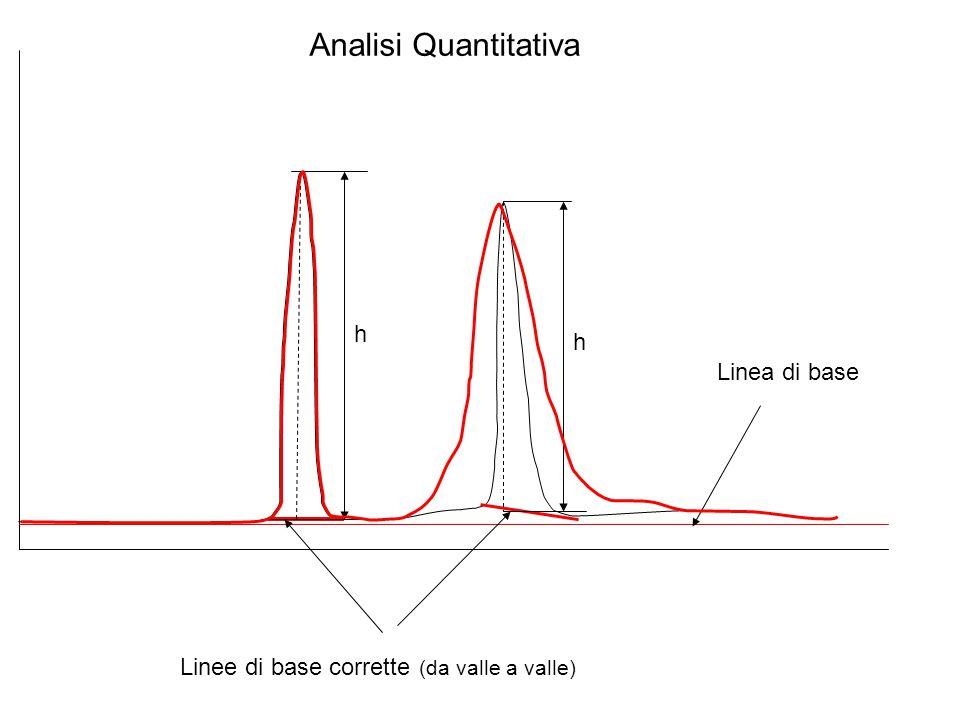 Analisi Quantitativa h h Linea di base Linee di base corrette (da valle a valle)