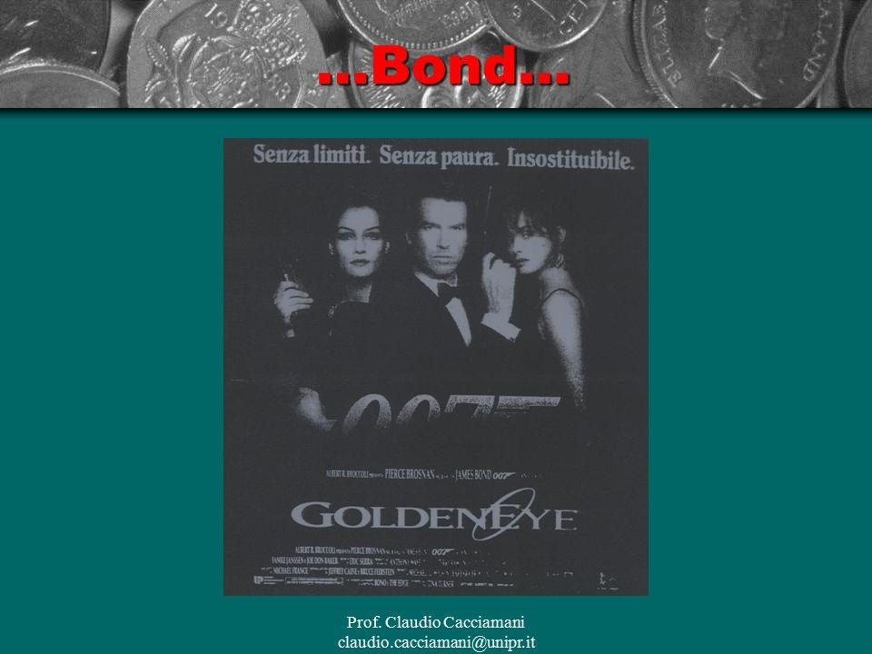 Prof. Claudio Cacciamani claudio.cacciamani@unipr.it…Bond…