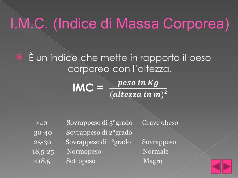  I.M.C. (Indice di Massa Corporea)