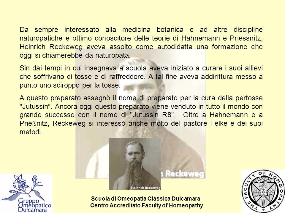 Scuola di Omeopatia Classica Dulcamara Centro Accreditato Faculty of Homeopathy Da sempre interessato alla medicina botanica e ad altre discipline nat