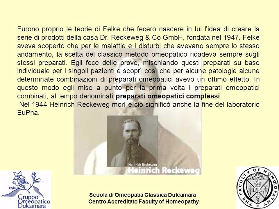 Scuola di Omeopatia Classica Dulcamara Centro Accreditato Faculty of Homeopathy Furono proprio le teorie di Felke che fecero nascere in lui l'idea di