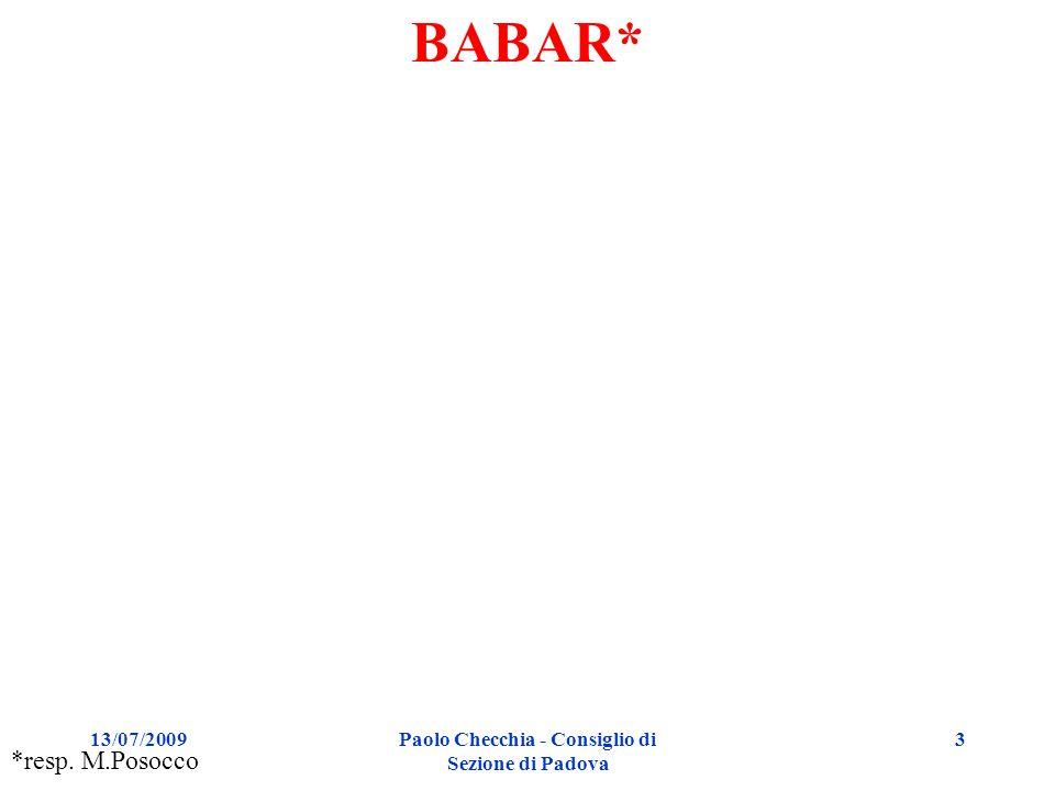 13/07/2009 Paolo Checchia - Consiglio di Sezione di Padova 34 Global muon tracking (Tracker+DT) Risoluzione in p T Tracker internal alignment