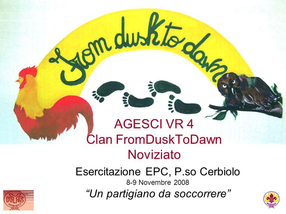 """AGESCI VR 4 Clan FromDuskToDawn Noviziato Esercitazione EPC, P.so Cerbiolo 8-9 Novembre 2008 """"Un partigiano da soccorrere"""""""