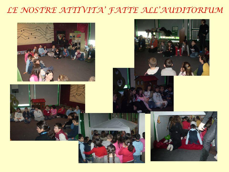 LE NOSTRE ATTIVITA' FATTE ALL'AUDITORIUM