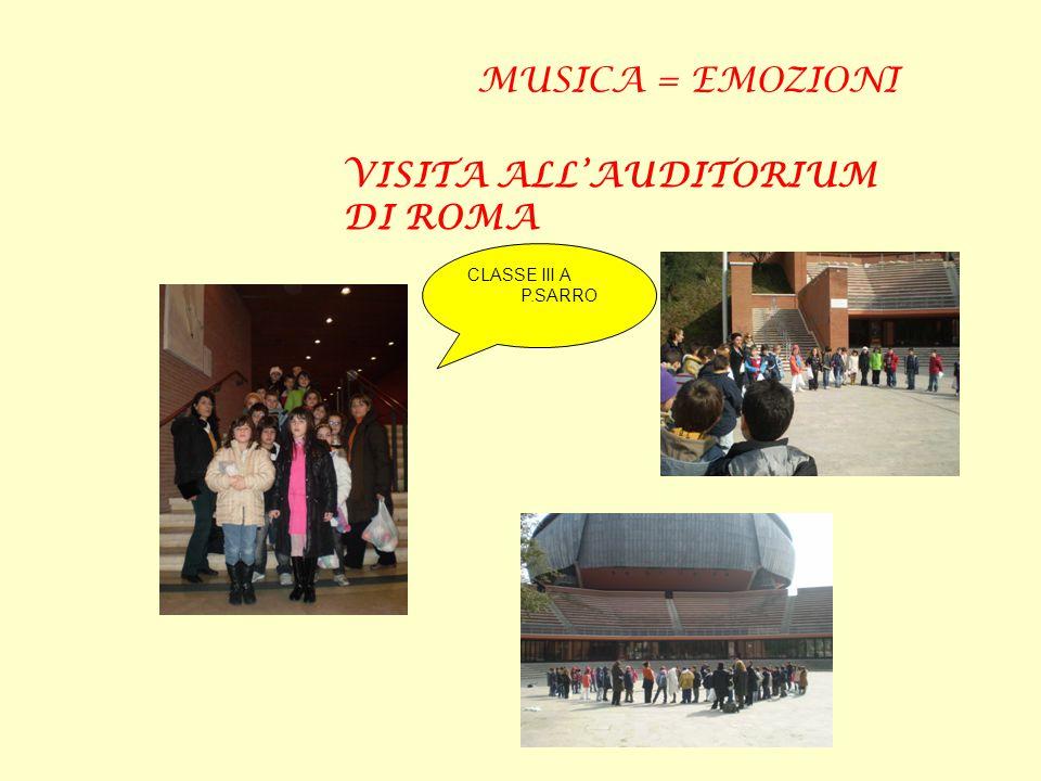 CLASSE III A P.SARRO MUSICA = EMOZIONI VISITA ALL'AUDITORIUM DI ROMA