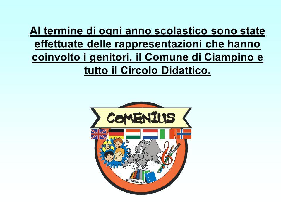 Al termine di ogni anno scolastico sono state effettuate delle rappresentazioni che hanno coinvolto i genitori, il Comune di Ciampino e tutto il Circo