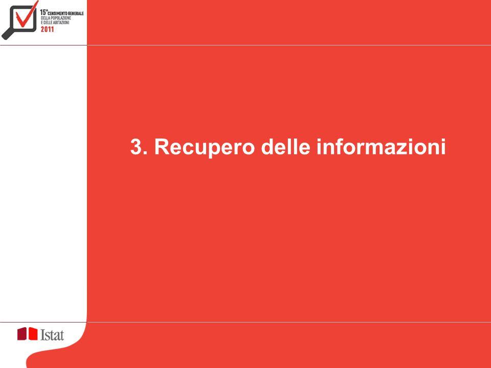 3. Recupero delle informazioni
