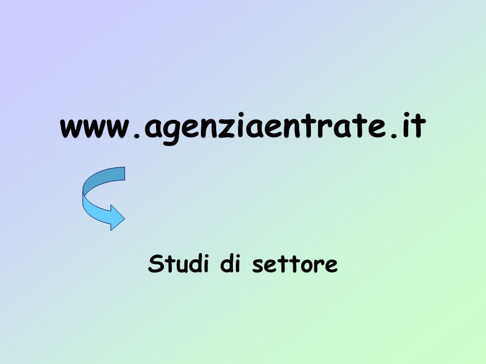www.agenziaentrate.it Studi di settore