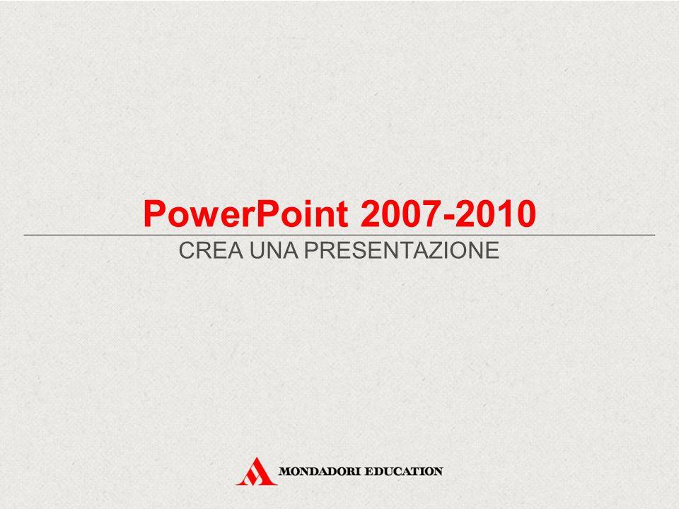 PowerPoint 2007-2010 CREA UNA PRESENTAZIONE