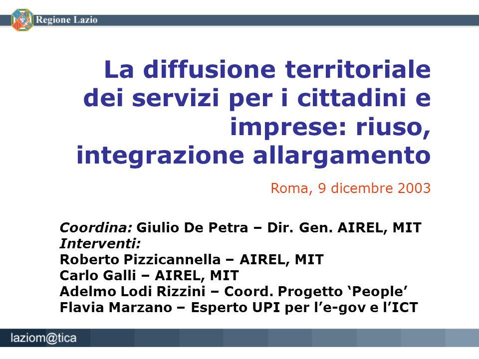 Coordina: Giulio De Petra – Dir. Gen. AIREL, MIT Interventi: Roberto Pizzicannella – AIREL, MIT Carlo Galli – AIREL, MIT Adelmo Lodi Rizzini – Coord.