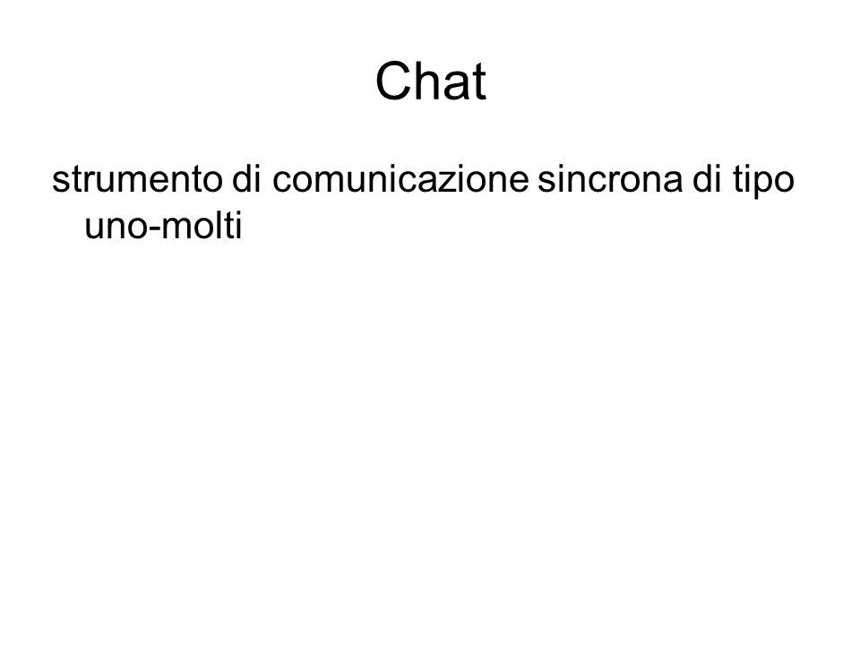strumento di comunicazione sincrona di tipo uno-molti