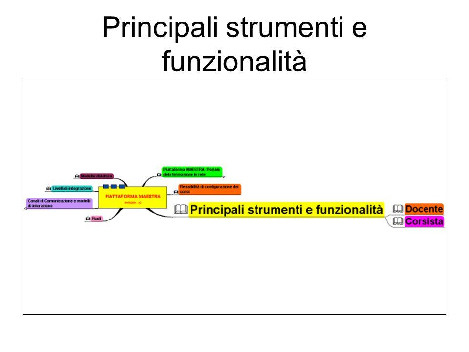 Principali strumenti e funzionalità