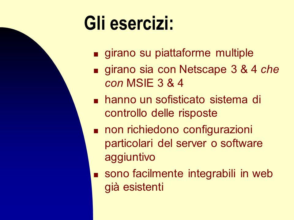 Gli applicativi n hanno un'interfaccia intuitiva, compatibile con i sistemi Windows e Mac n abilitano con precisione risposte multiple n sono molto versatili n supportano tutte le lingue con caratteri latini n hanno opzioni speciali per utenti esigenti