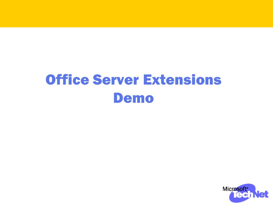 Office Server Extensions Demo