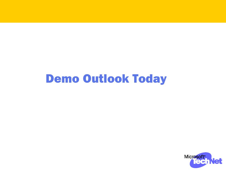 Demo Outlook Today
