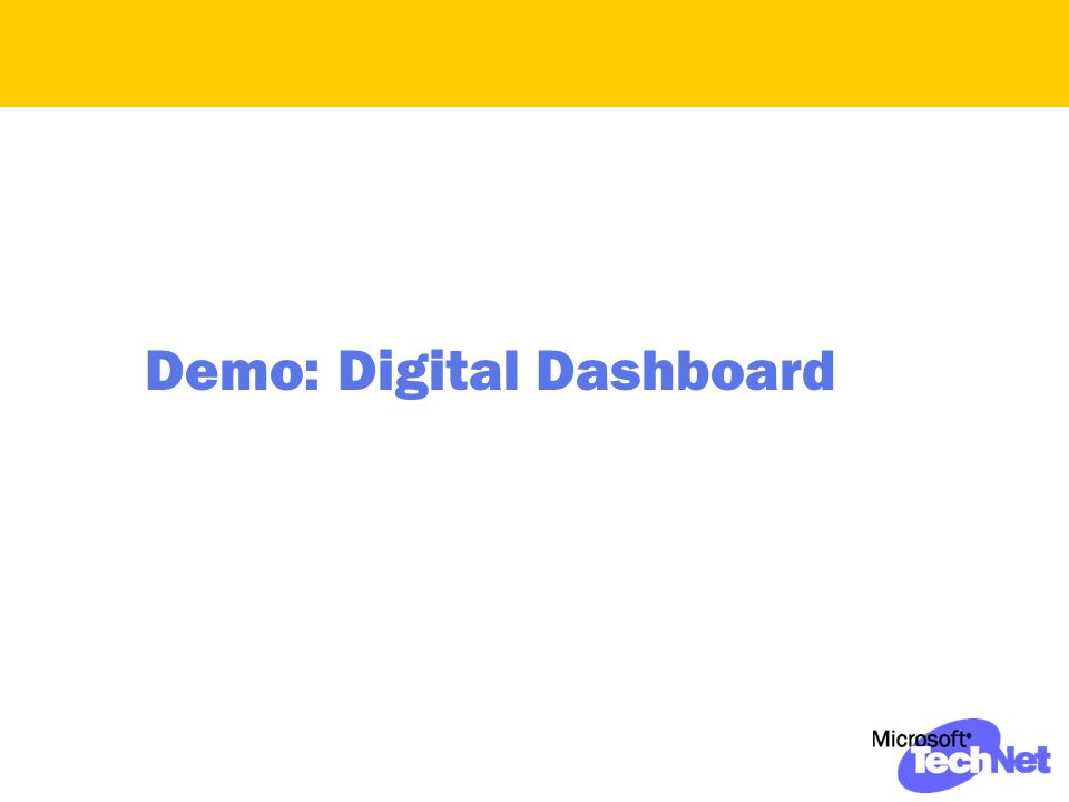 Demo: Digital Dashboard