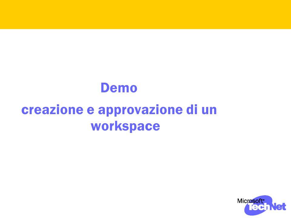 Demo creazione e approvazione di un workspace