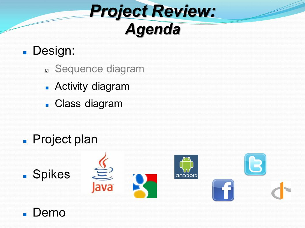 Project Review Project Plan