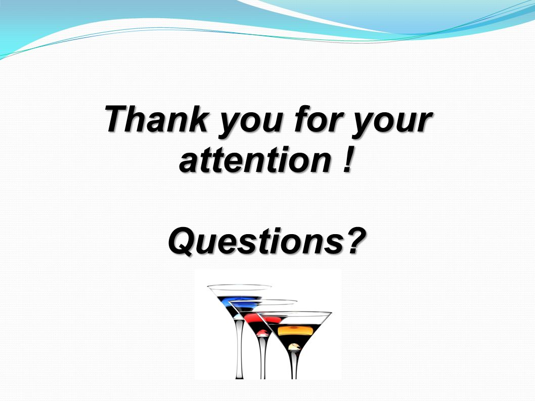 Thank you for your attention ! Questions?