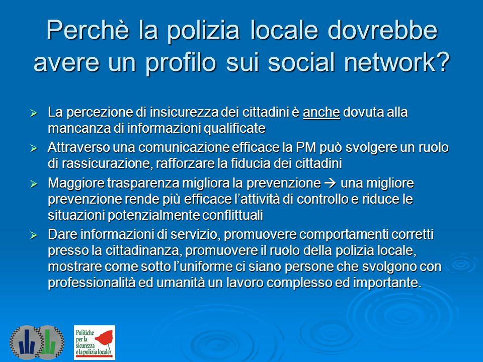 I primi passi (1) 1.Verificare le indicazioni dell'Ente sull'utilizzo dei social network.