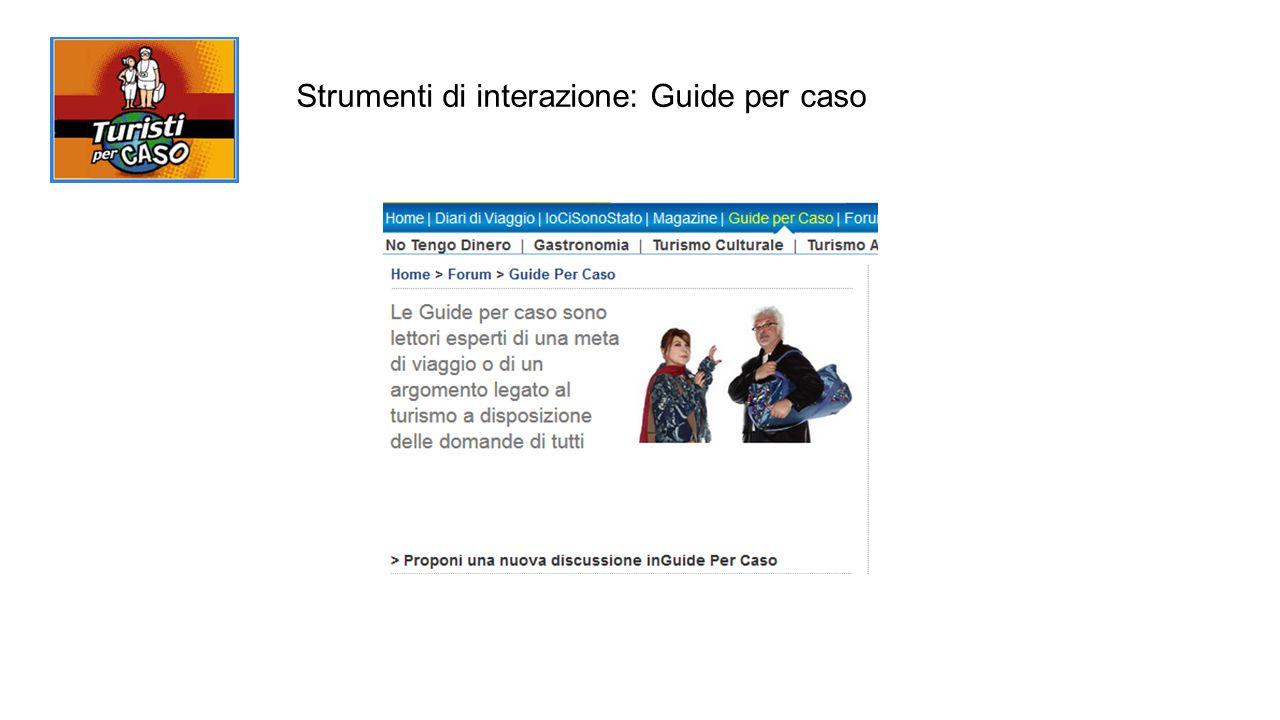 Strumenti di interazione: Guide per caso