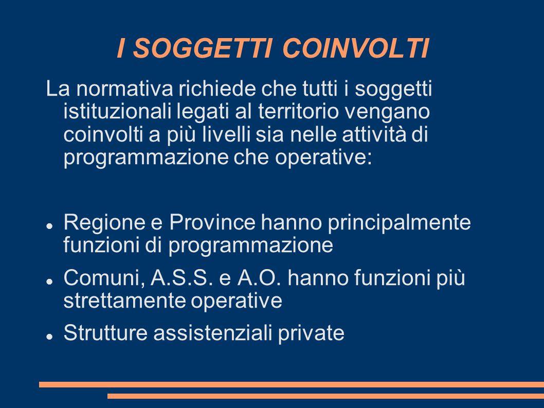 INTERVENTI SOCIO-SANITARI La legge n.