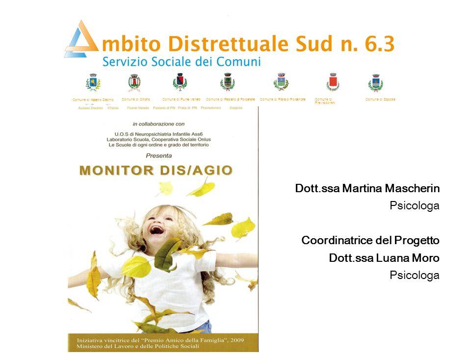 Dott.ssa Martina Mascherin Psicologa Coordinatrice del Progetto Dott.ssa Luana Moro Psicologa Comune di Azzano Decimo Comune di ChionsComune di Fiume