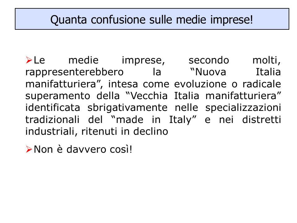 """Quanta confusione sulle medie imprese!  Le medie imprese, secondo molti, rappresenterebbero la """"Nuova Italia manifatturiera"""", intesa come evoluzione"""