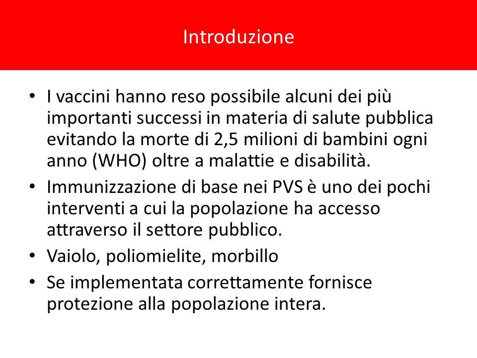 I vaccini hanno reso possibile alcuni dei più importanti successi in materia di salute pubblica evitando la morte di 2,5 milioni di bambini ogni anno (WHO) oltre a malattie e disabilità.